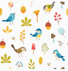 llittle forest pattern vector image vector image