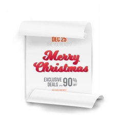 Marry Christmas Scroll Banner Template vector image vector image