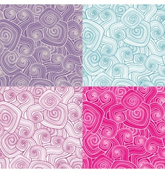 set of decorative seamless patterns vector image