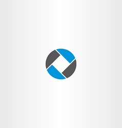 square in circle abstract business logo vector image
