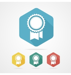 Award Icon flat style with long shadow vector image vector image