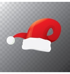 cartoon funky red Santa hat icon vector image