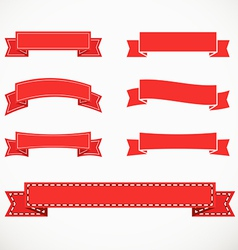 Different retro style red ribbons vector image vector image