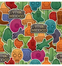 mexican pattern vector image vector image