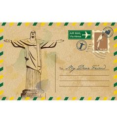 Postcard from Rio De Janeiro vector image vector image
