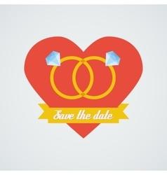 wedding rings icon Flat design vector image vector image