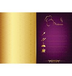 Golden - purple food menu vector image vector image
