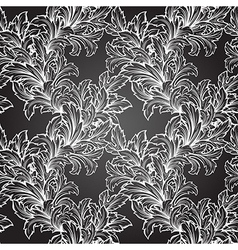 hand draw leaf seamless pattern vector image