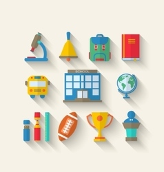 Simple Icons of Elements and Objects vector image