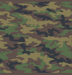woodland hunting camoflauge seamless pattern vector image
