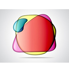 Colorful glass bubbles vector image vector image