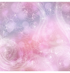 Flower background with cherry blossoms vector image