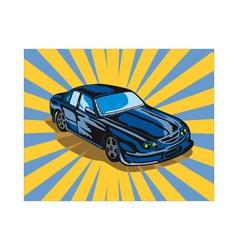 Ford gt car retro vector