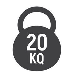 kettlebell glyph icon fitness and sport workout vector image vector image