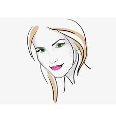 woman 1 vector image vector image