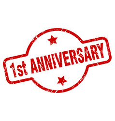 1st anniversary stamp vector