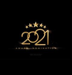 2021 awarding nomination ceremony luxury black vector