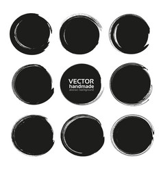abstract black round backgrounds from thick black vector image