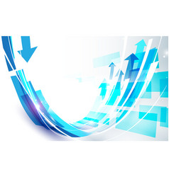abstract blue curve line shape background vector image