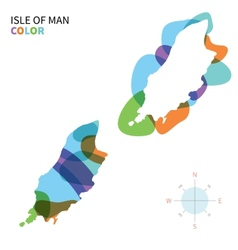 Abstract color map Isle of Man vector image