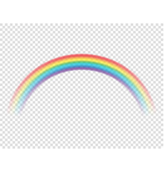 abstract realistic cartoon colorful rainbow on vector image
