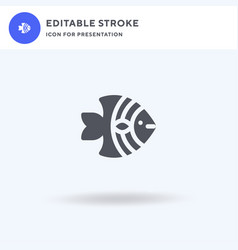 Angelfish icon filled flat sign solid vector