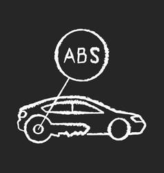 Anti lock system chalk white icon on black vector