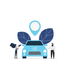 Banner smart car sharing service any location city vector