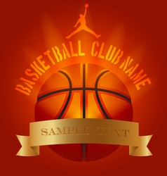 Basketball club generic set vector