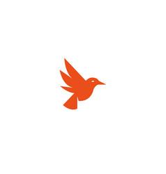 bird dove open wings flying logo design vector image