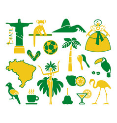 brazilian icons vector image