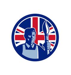 british fine artist union jack flag icon vector image