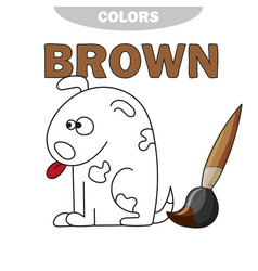 cartoon dog - coloring book vector image