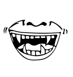 cartoon mouth icon vector image
