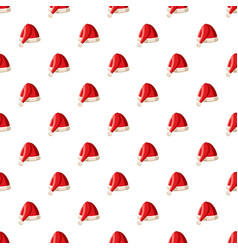 Christmas hat pattern vector
