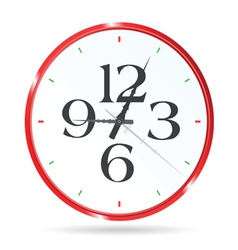 clock in red color with four number vector image