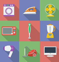 Colorful Icon set of Household appliance vector image