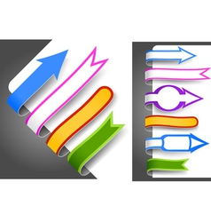 colour bookmarks vector image vector image
