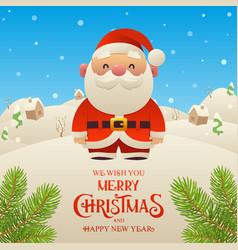 cute cartoon santa claus character merry vector image