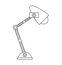 Desk lamp icon vector