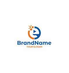 E digital play logo design vector