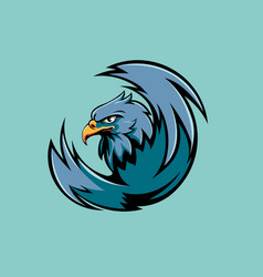 Eagle head vector