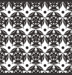 elegant abstract flower seamless pattern grey vector image