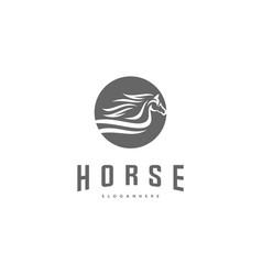 Fast speed horse logo design horse logo template vector