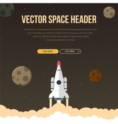 Flat concept for web development vector image