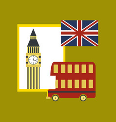 Flat icon on stylish background united kingdom set vector