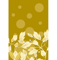 floral back design vector image