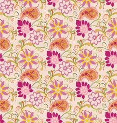 floral pattern with paisley vector image