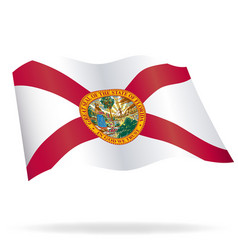Florida fl flag flying vector