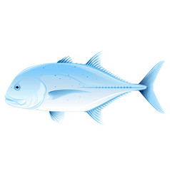 Giant trevally one sea fish isolated vector